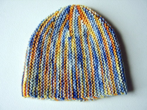 Shortrows Sideways Hat - hat knitting patterns