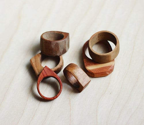 Simple Wooden Rings - simple diy rings