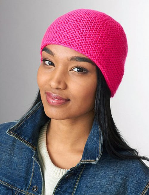 Simply Garter Stitch Hat - hat knitting patterns