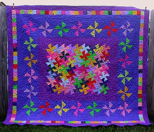 Square Dance Quilt - pinwheel quilt patterns