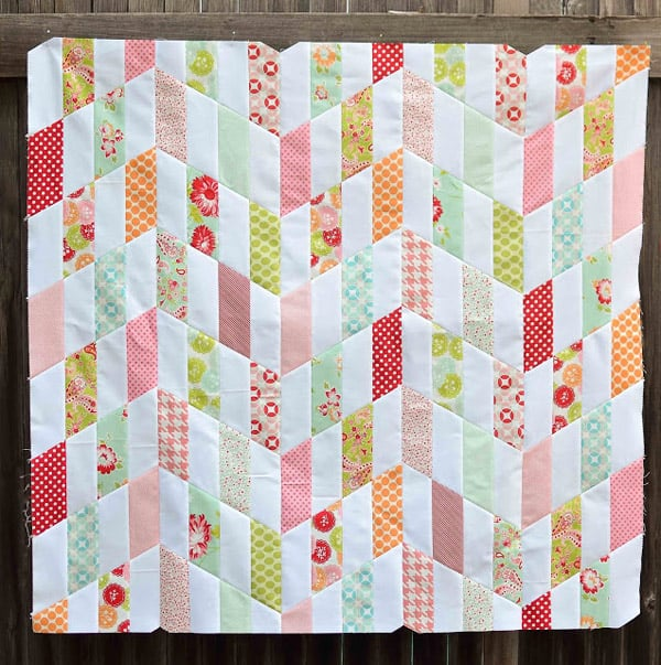 Striped Chevrons - cheveron quilt patterns