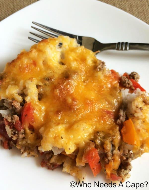 Stuffed Pepper Explosion Casserole - gluten-free casseroles