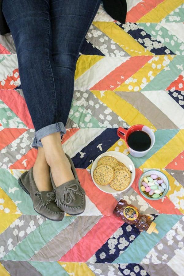 Take Flight Quilt - cheveron quilt patterns