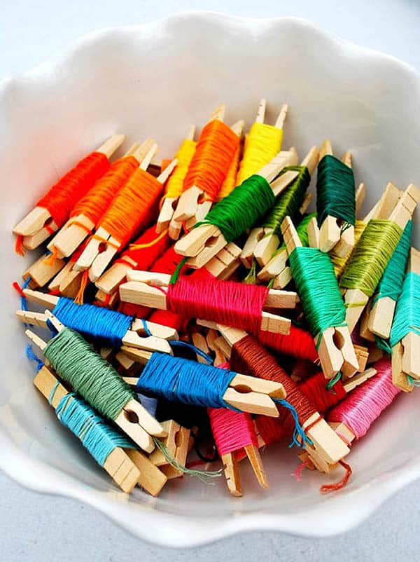 Thread Floss Organizer - hand embroidery supplies
