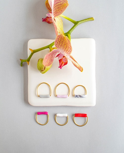 Tube Rings - simple diy rings