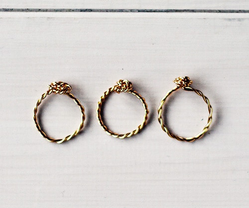 Twist & Knot Wire Rings - simple diy rings