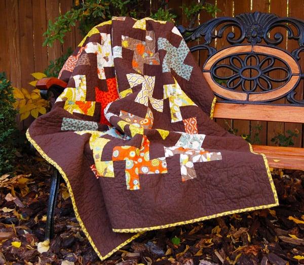 Wonky Pinwheels or Whirligigs Quilt - pinwheel quilt patterns