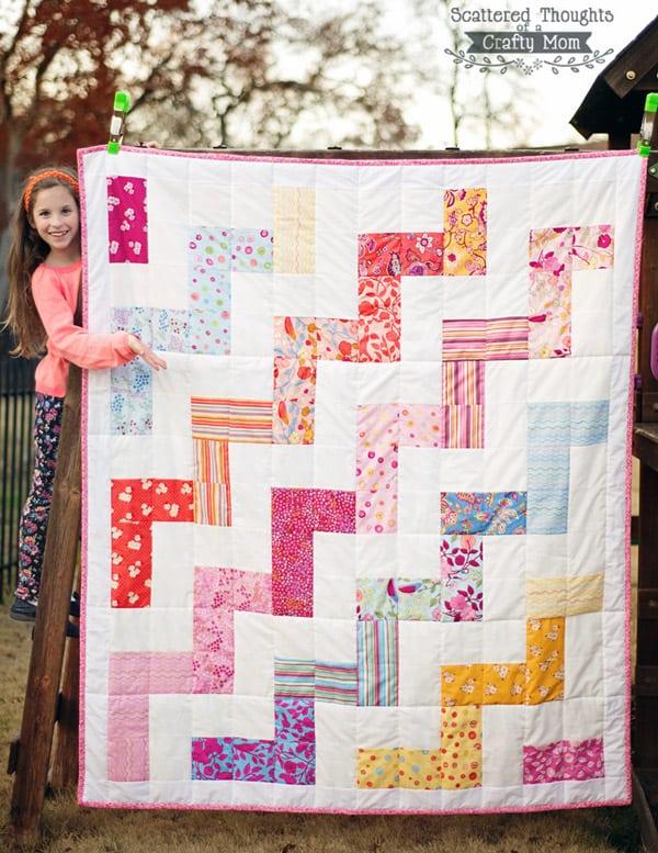 Zig Zag Quilt - cheveron quilt patterns