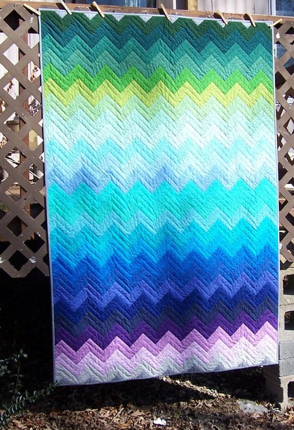 Ziggy - cheveron quilt patterns