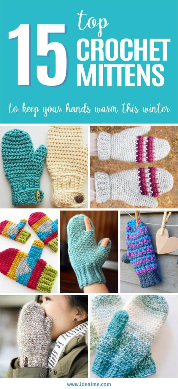 15 crochet mittens     #crochet #crochetmittens #crochê #crochetgifts #crochetpattern