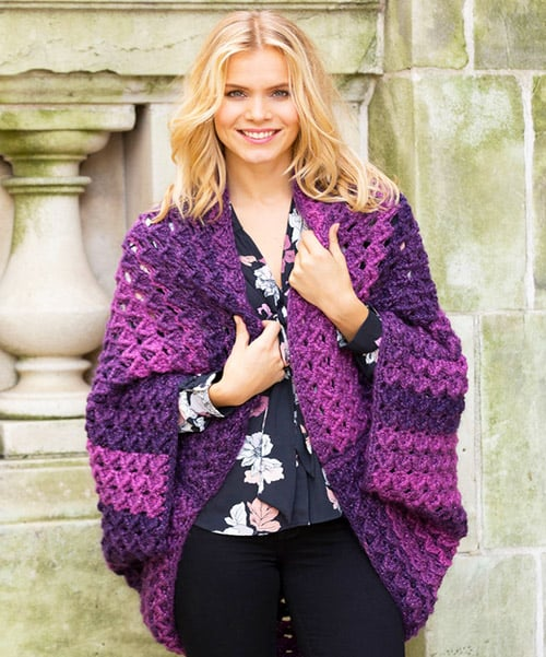 Colossal Shrug - free crochet sweater patterns
