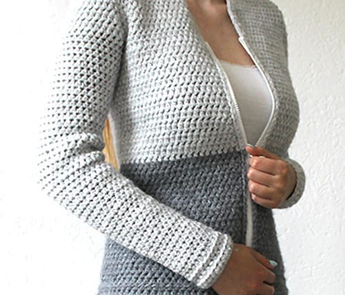 Easy Cardigan - free crochet sweater patterns