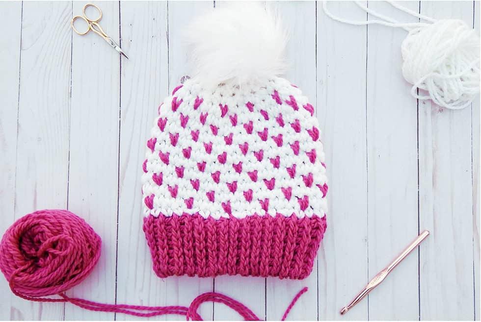 Super Quick Fair Isle Crochet Beanie - Ideal Me