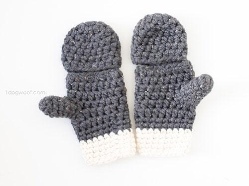 Millbrook Chunky - crochet mittens