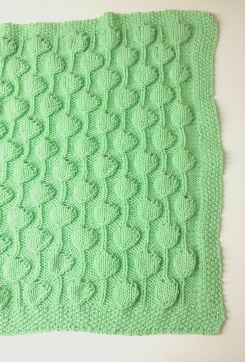 Palm Tree Puff - free baby blanket knitting patterns