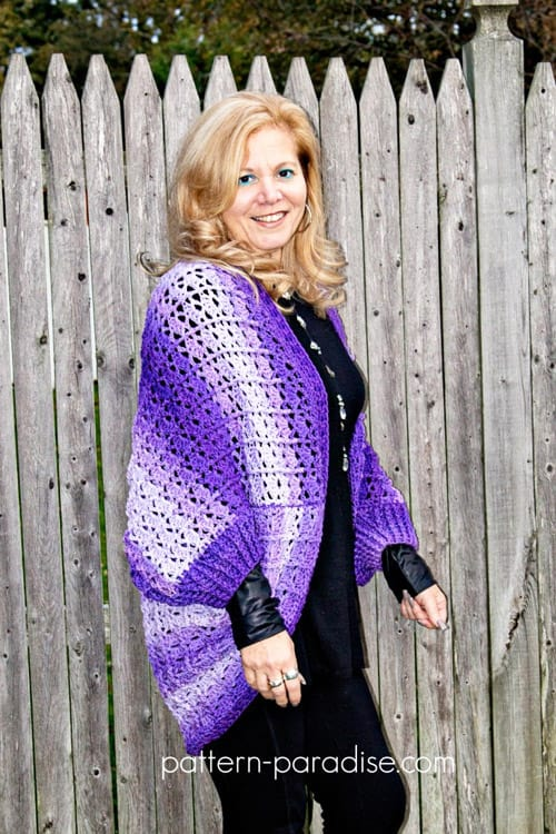 Snuggler - free crochet sweater patterns