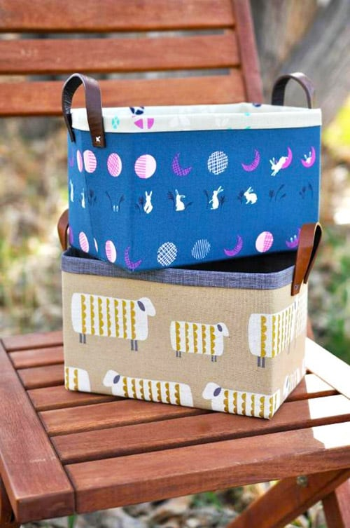 Sturdy Fabric Basket - DIY sewing projects