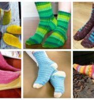 12 Sock Knitting Patterns for Beginners Using Circular Needles