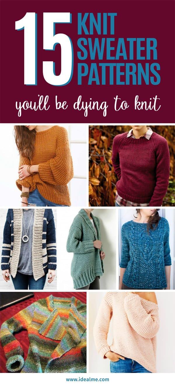 15 knit sweater patterns
