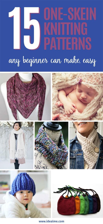 15 one-skein knitting patterns