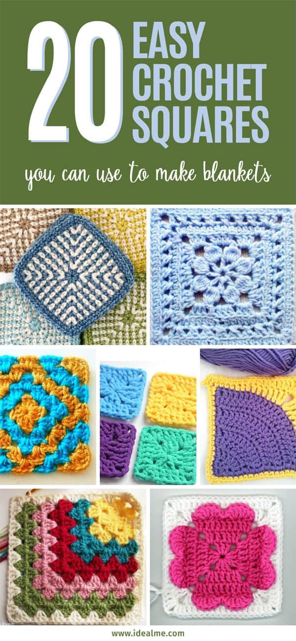 20 easy crochet squares