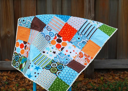 All Star Charm - easy baby quilt patterns