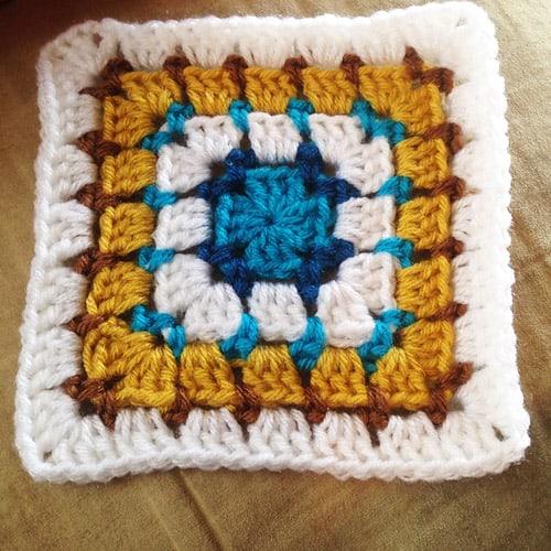 Block Stitch Square - easy crochet squares