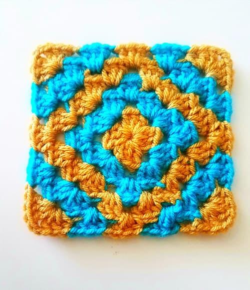 Boho Diamond - easy crochet squares