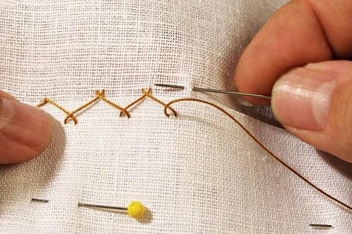 Catch Stitch - sewing stitches