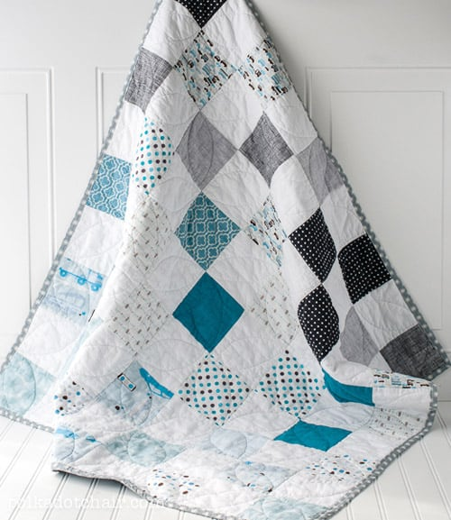 Color Blocked - easy baby quilt patterns