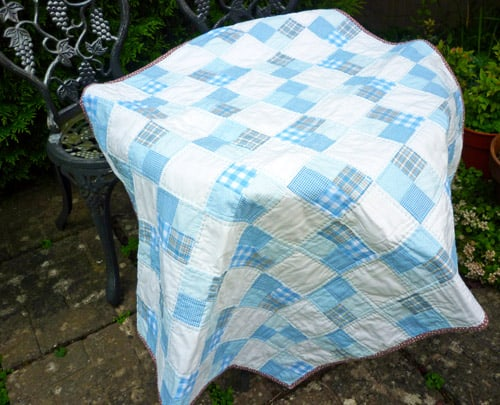 Easy Four Patch - easy baby quilt patterns