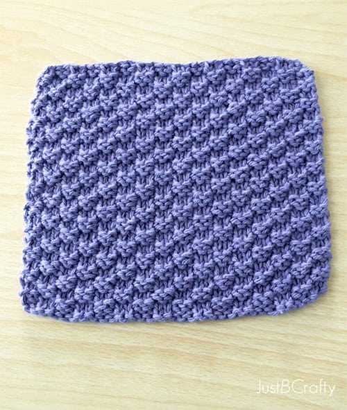 Easy Textured Knit Dishcloth - one-skein knitting patterns