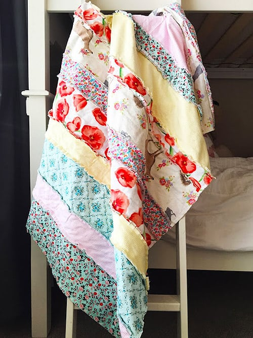 Flannel Baby Rag - easy baby quilt patterns