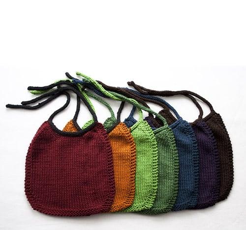 I-Love-Stockinette Baby Bib - one-skein knitting patterns