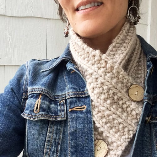Knitted Neck Warmer - one-skein knitting patterns