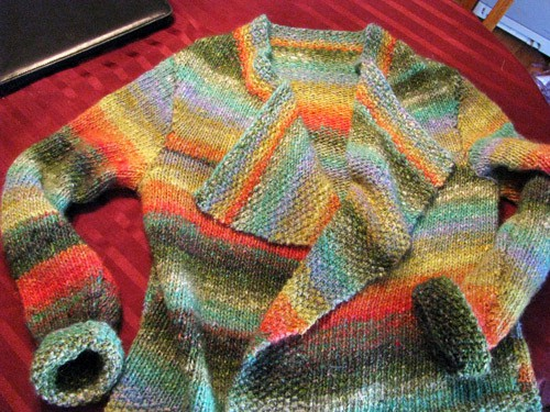 Noro Chunky Silk Garden Coat - knit sweater patterns