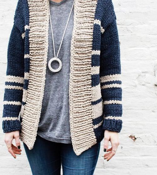Oxford Boyfriend Cardigan - knit sweater patterns