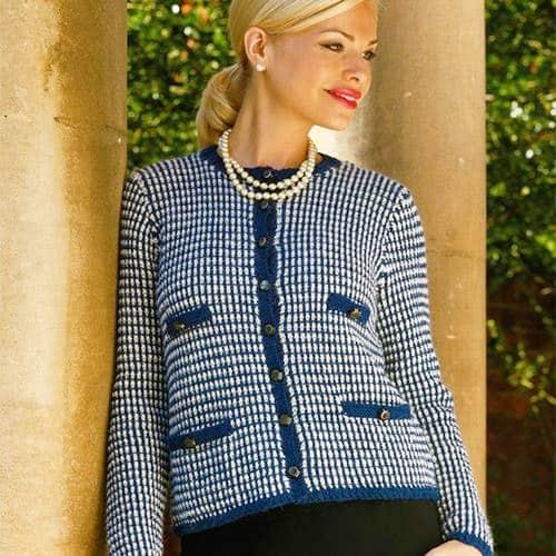 Royal English Tea Cardigan - knit sweater patterns
