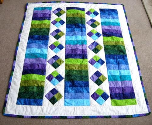 Sherbet Lemon Jelly Roll - easy baby quilt patterns