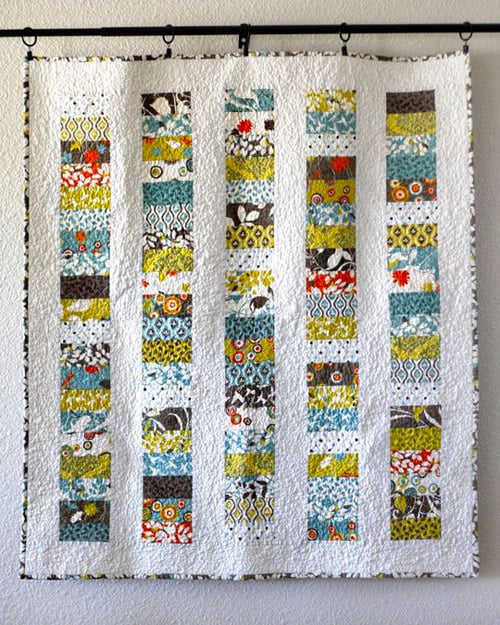 Stacked Coins - easy baby quilt patterns