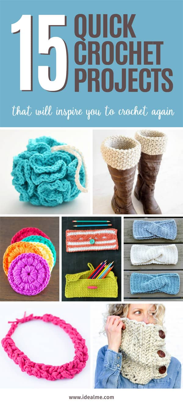 15 quick crochet projects