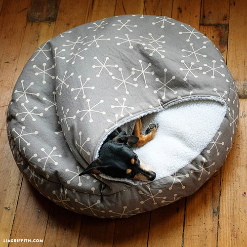 Burrow Dog Bed - sew for your pets