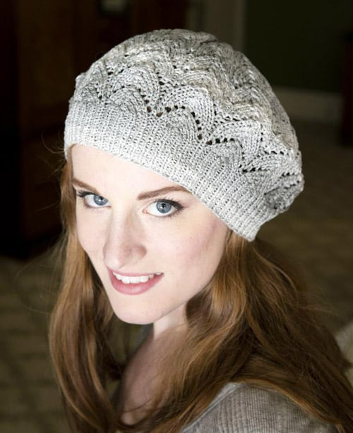 Driftone Lace Beret - lace knitting patterns
