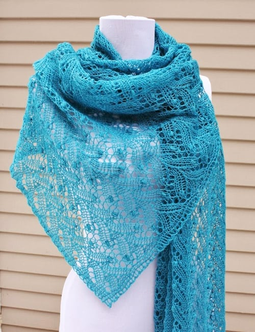 Estonian Lace Shawl - lace knitting patterns