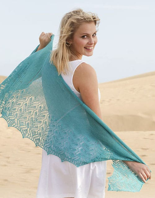French Riviera Shawl - lace knitting patterns