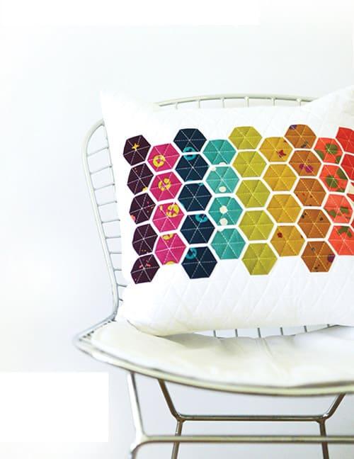 Hexie Pillow - mini quilt patterns