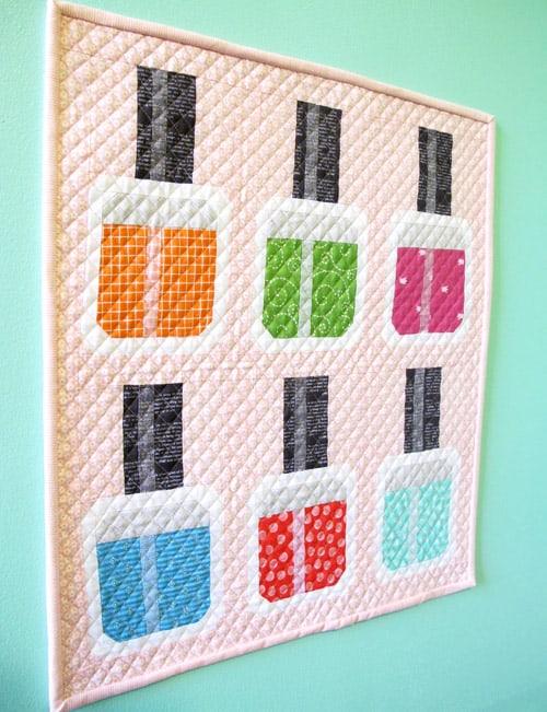 Nail Polish - mini quilt patterns