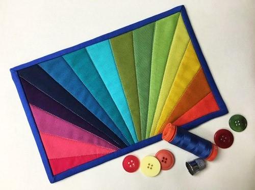 Rainbow Burst - mini quilt patterns