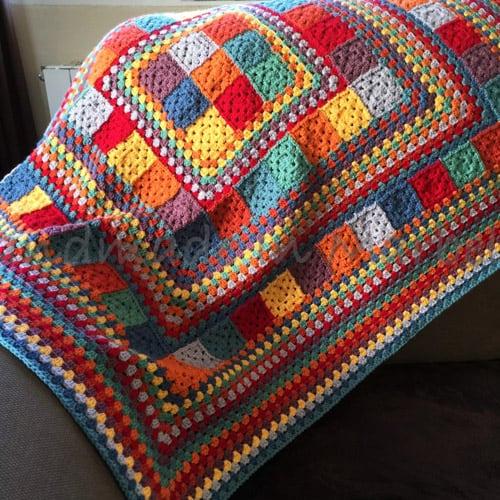 11 Modern Granny Square Crochet Baby Blanket Patterns