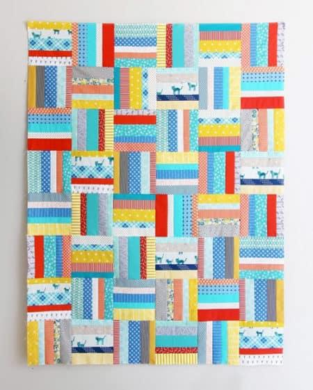 Scrappy Strips - strip quilt patterns